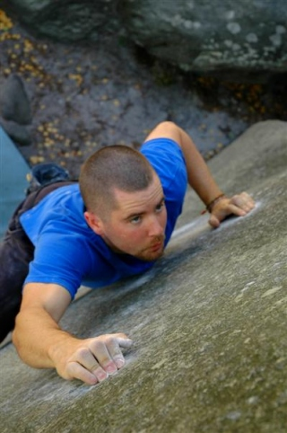 Diarmuid Smyth on Science Friction, Fontainebleau, France. Photo by Michael O'Dwyer.
