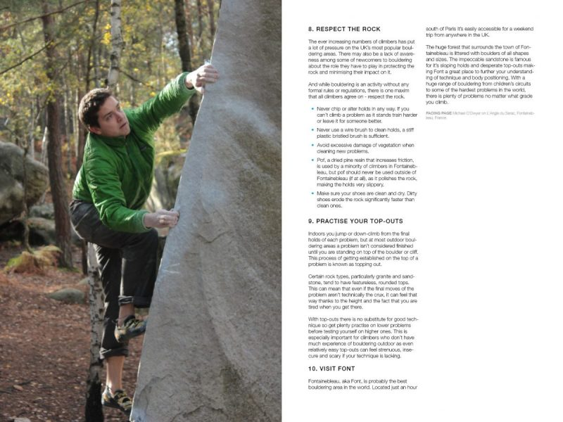 Bouldering for Beginners sample page
