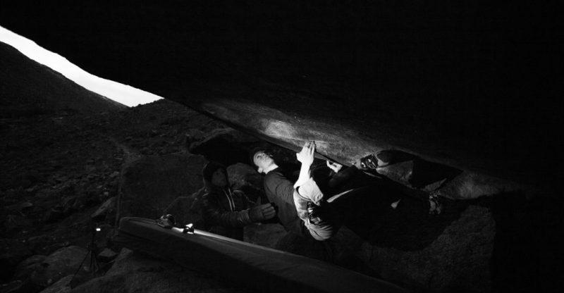 David Fitzgerald on Wonderland 8b, Glendalough. Ellie Berry.