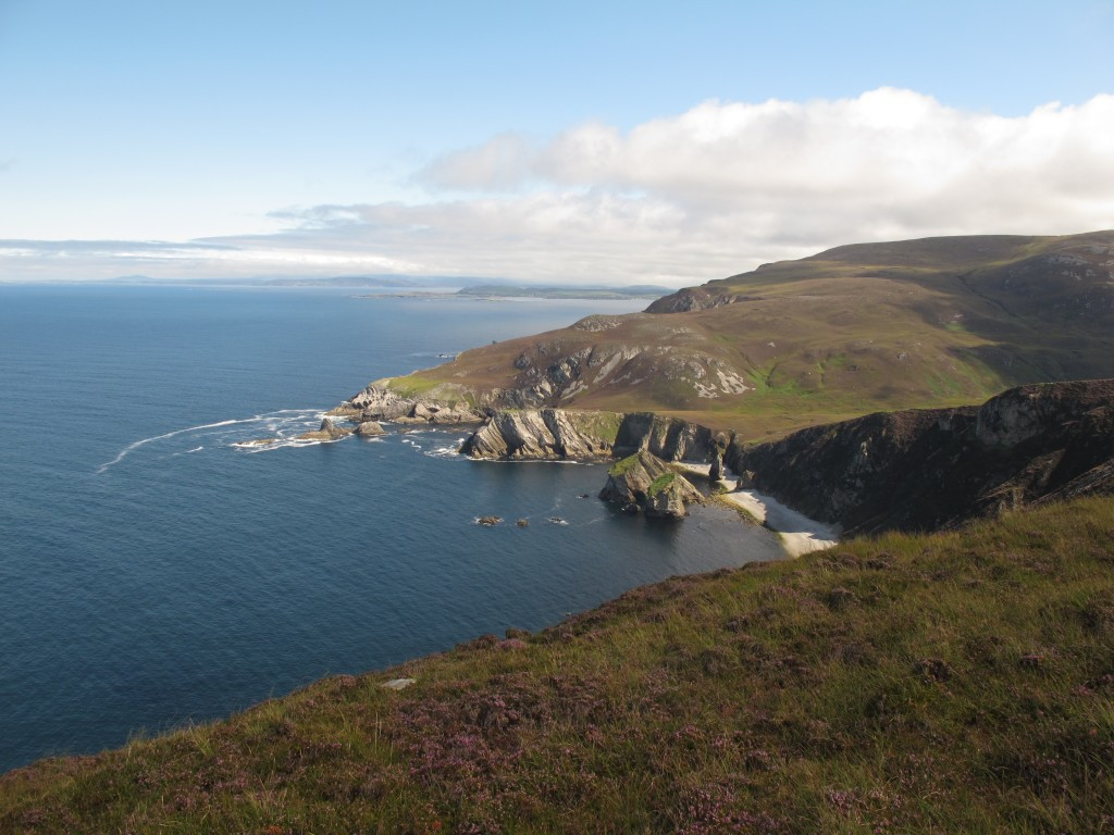 Looking north towards Glenlough Bay.