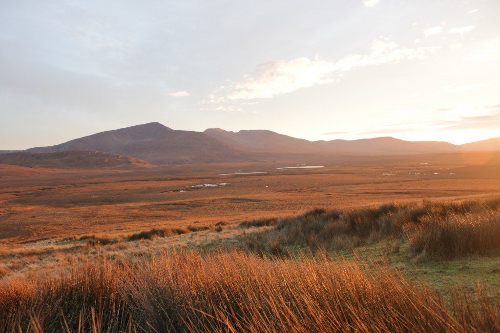 In the heart of the Nephin Beg mountains a short distance from the most remote point in Ireland.