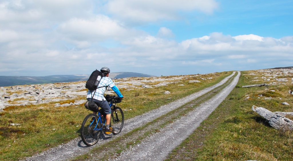 Cycling in the Burren, Clare.