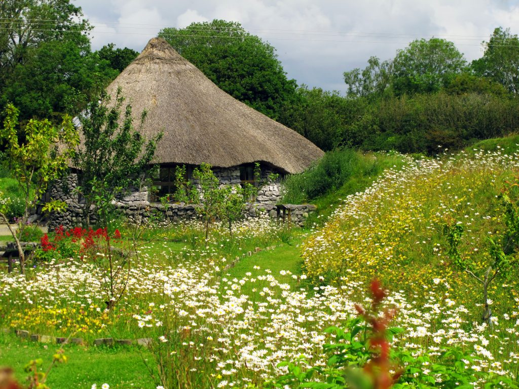 The roundhouse in Brigit's Garden.
