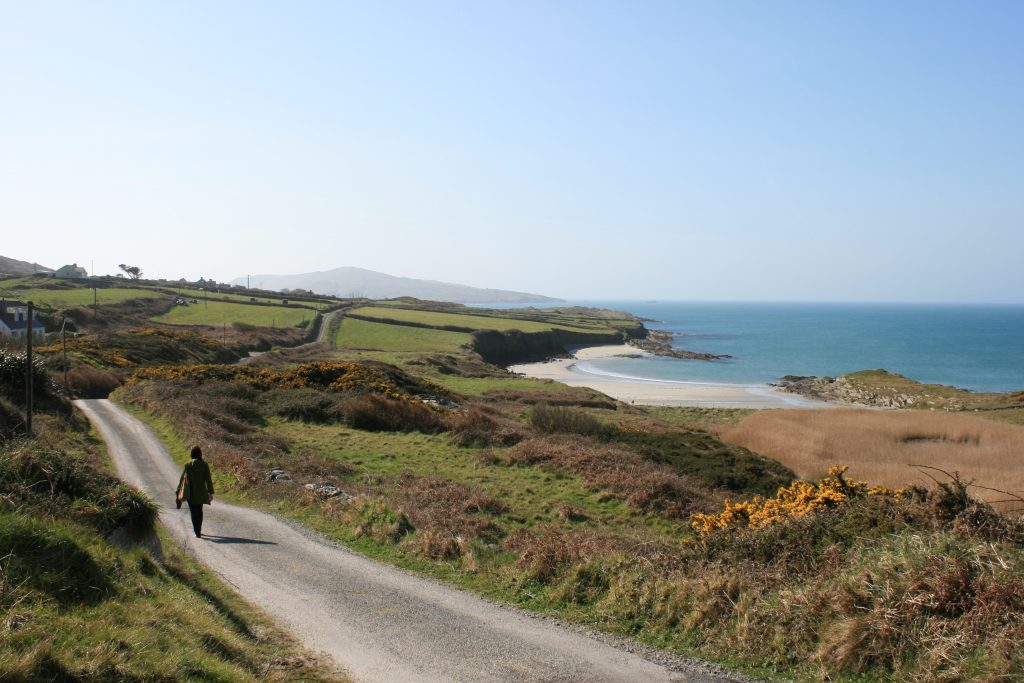 Walking towards Trá Bán, Sherkin Island